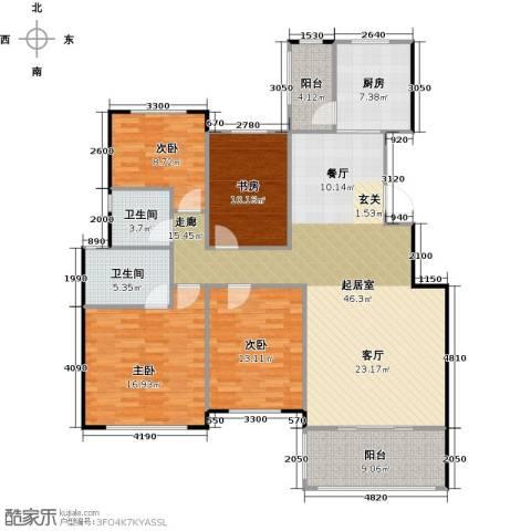 碧桂园生态城4室2厅2卫0厨146.00㎡户型图