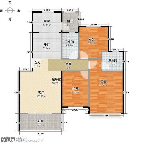 碧桂园生态城3室2厅2卫0厨102.00㎡户型图