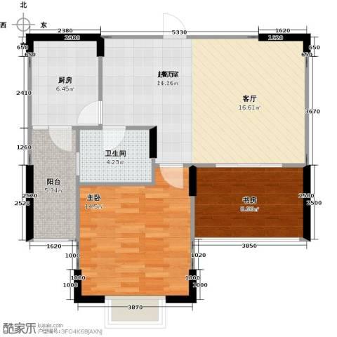 太湖国际社区1室1厅1卫0厨72.00㎡户型图