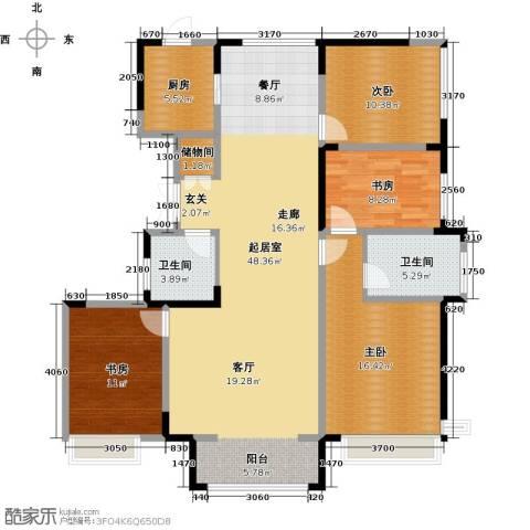 中交上东湾4室2厅2卫0厨156.00㎡户型图