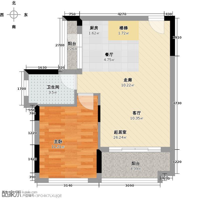 宏发上域花园88.00㎡10栋03户型4室2厅2卫