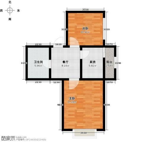长堤湾1室1厅1卫0厨57.00㎡户型图