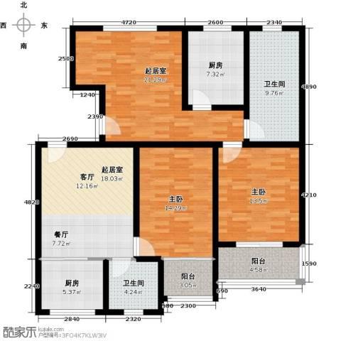 藏龙镇2室2厅2卫0厨146.00㎡户型图
