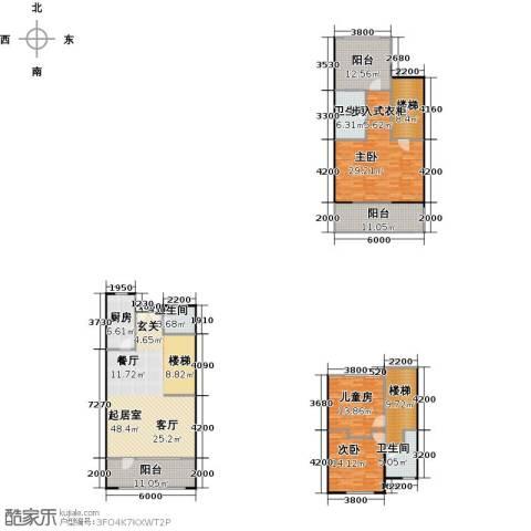碧桂园生态城3室2厅3卫0厨180.03㎡户型图