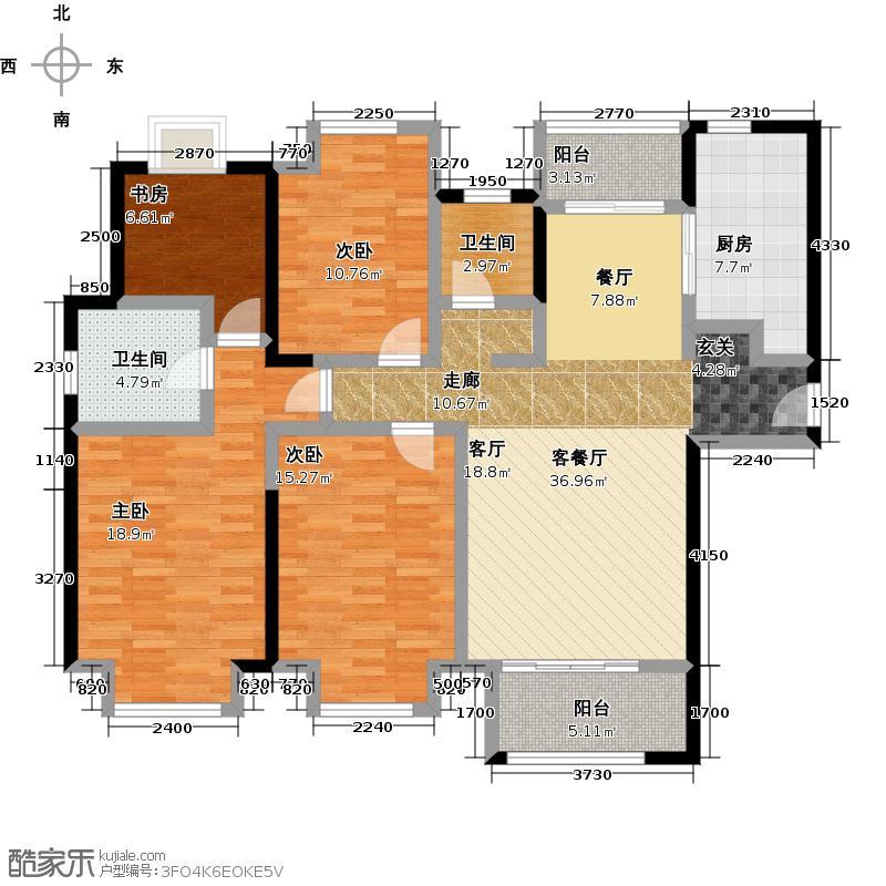 宝龙城市广场128.00㎡住宅青枫林语户型4室2厅2卫