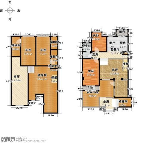 长堤湾2室2厅1卫0厨115.00㎡户型图