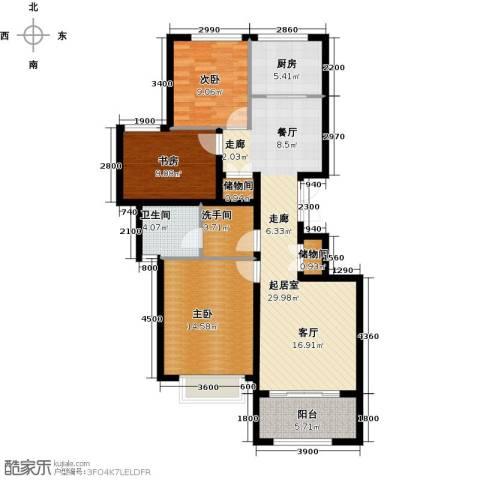 大家之江悦3室2厅1卫0厨106.00㎡户型图