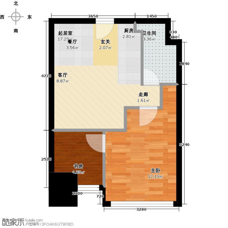 福雷德广场42.55㎡酒店式公寓户型10室