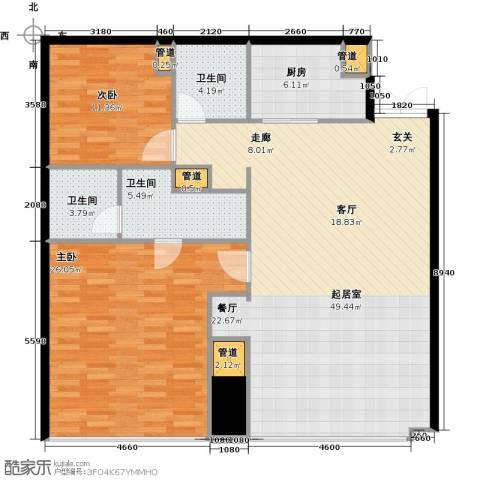 东方之门2室2厅2卫0厨132.00㎡户型图