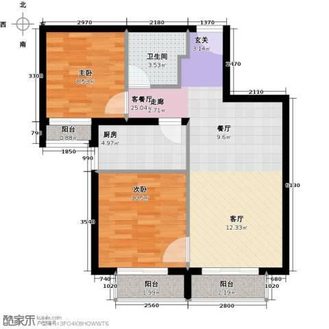 金融街・融汇2室2厅1卫0厨79.00㎡户型图