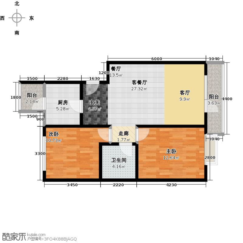 领秀新硅谷73.88㎡A区意境洋楼户型10室