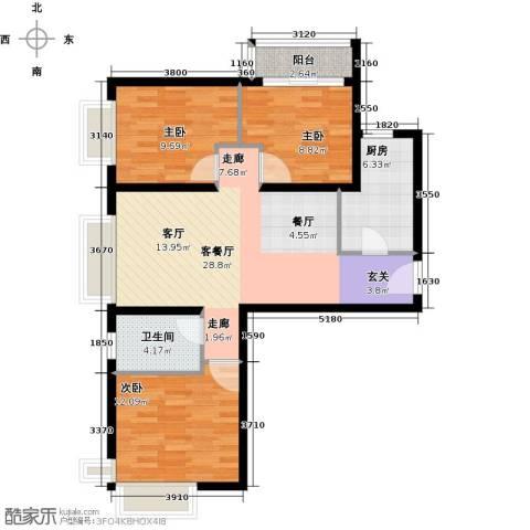 金融街・融汇3室2厅1卫0厨106.00㎡户型图