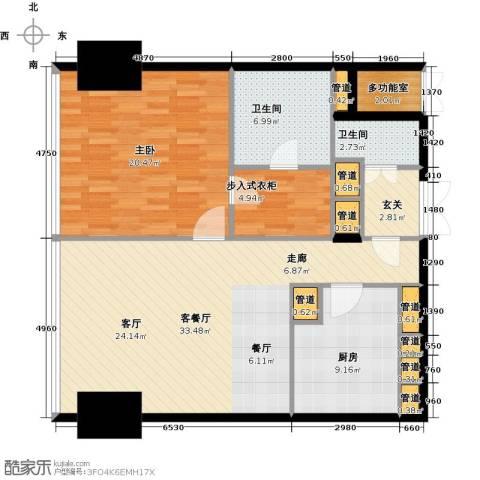 东方之门1室1厅2卫0厨113.00㎡户型图