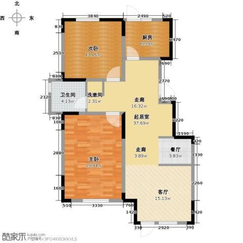 中交上东湾2室2厅1卫0厨116.00㎡户型图