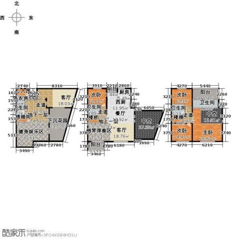 协信阿卡迪亚5室3厅4卫0厨370.00㎡户型图