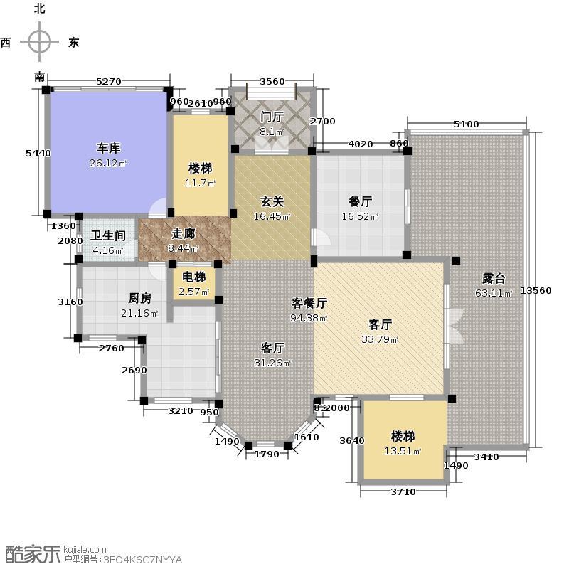 千岛湖墅260.00㎡房型D首层平面图户型10室