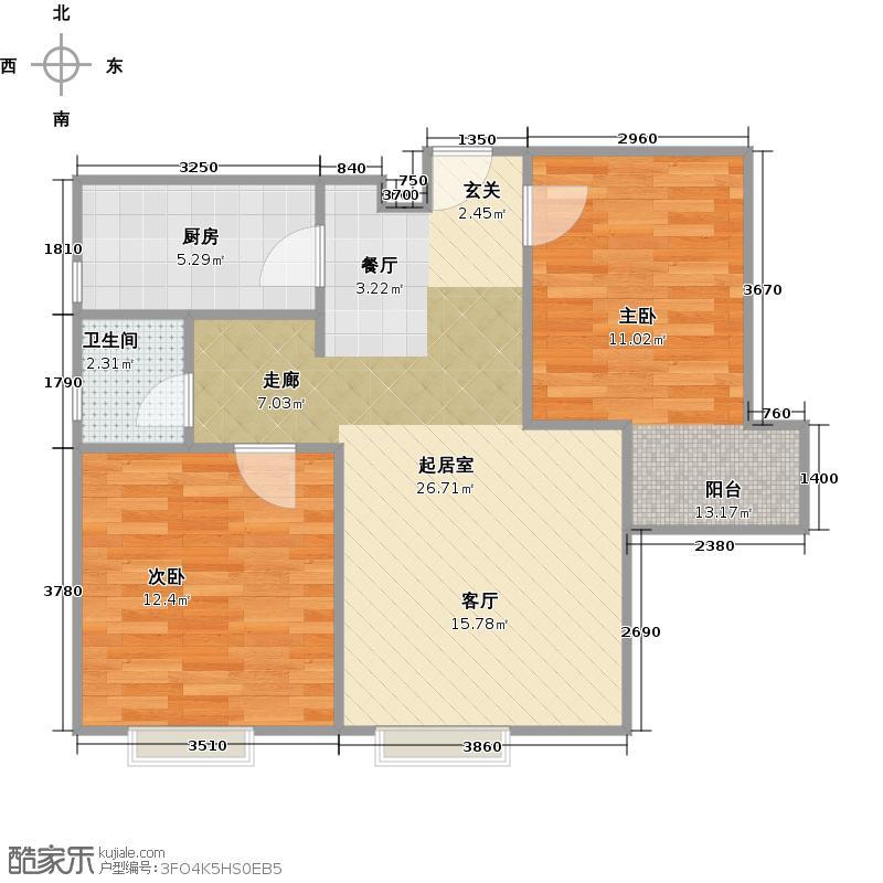 东尚观湖90.00㎡D2户型10室