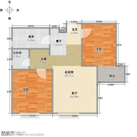 东尚观湖90.00㎡户型图