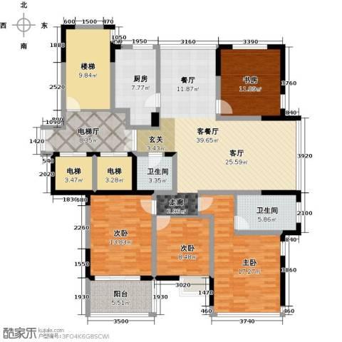 东润枫华4室1厅2卫1厨159.00㎡户型图