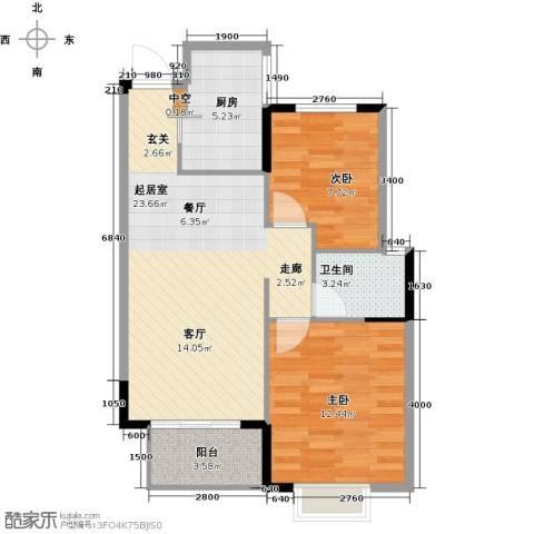 天阳尚城国际2室2厅1卫0厨73.00㎡户型图