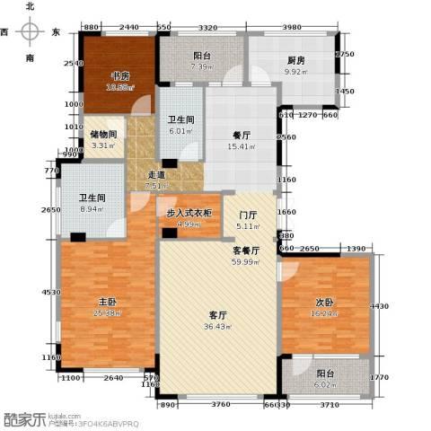 绿城玉兰花园3室2厅2卫0厨175.00㎡户型图