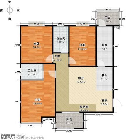 江林公园里3室0厅2卫1厨140.00㎡户型图