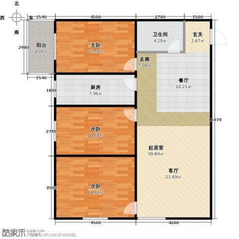 哈佛印象3室2厅1卫0厨130.00㎡户型图