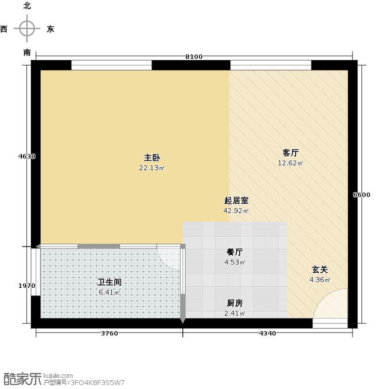 香雪village67.00㎡C2户型1室2厅1卫