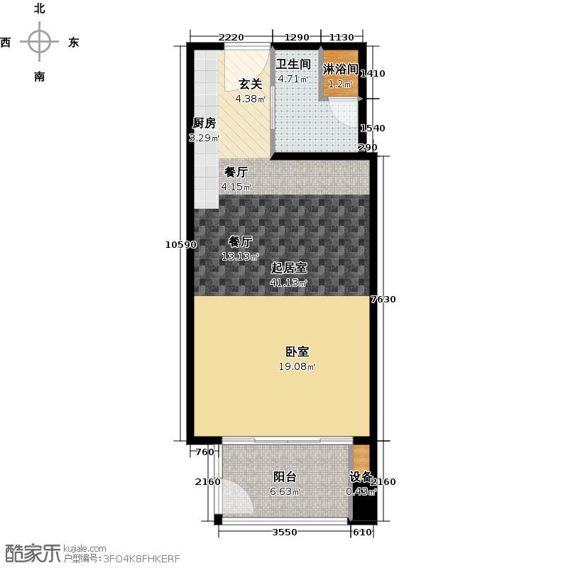 世茂工三产权酒店61.00㎡E户型10室