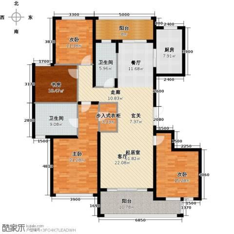 绿城之江1号4室2厅2卫0厨188.00㎡户型图