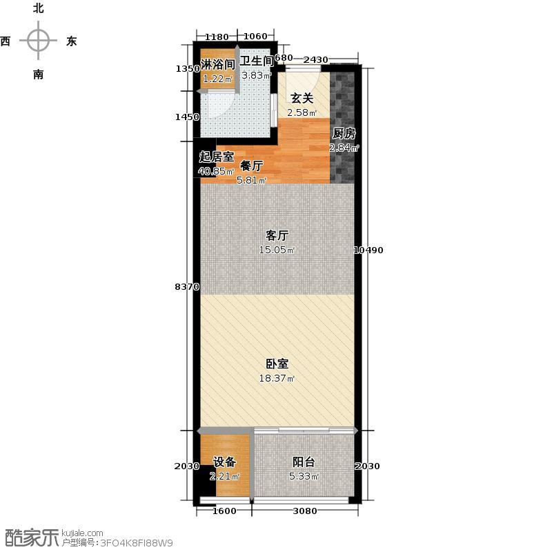 世茂工三产权酒店62.00㎡F户型10室