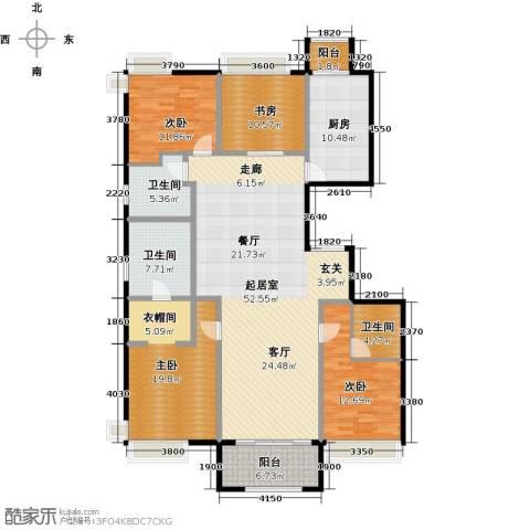 龙湖・长楹天街4室2厅3卫0厨190.00㎡户型图