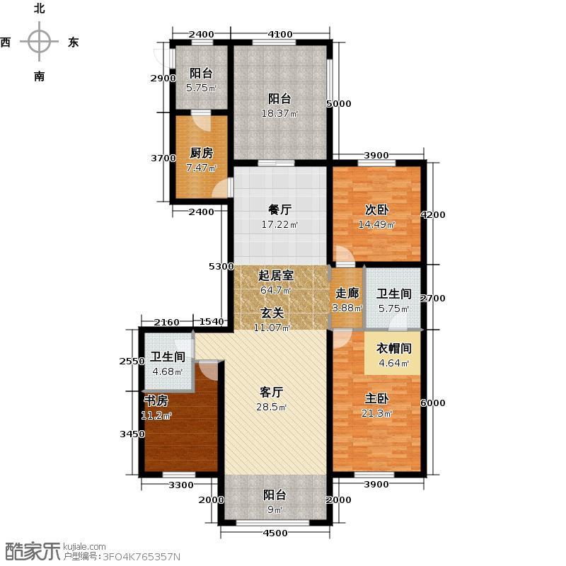 宝宇天邑澜湾208.22㎡6#三室2单元1~2号户型3室2厅2卫