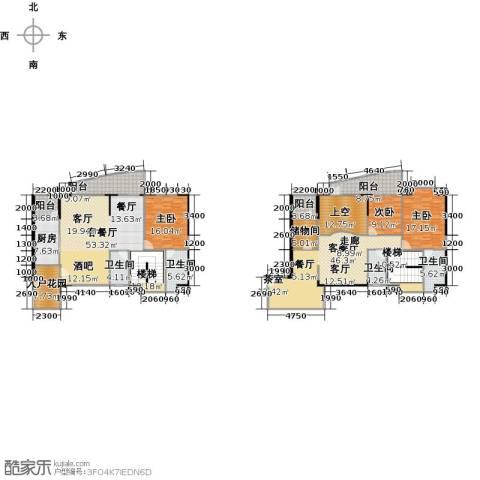 瑞安花园5室3厅3卫0厨254.00㎡户型图