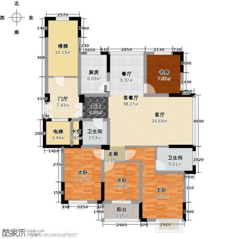 东润枫华4室1厅2卫1厨139.00㎡户型图