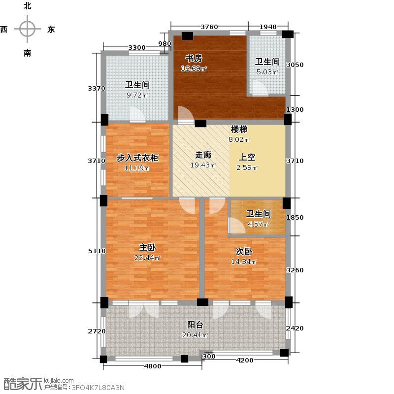 绿城云栖玫瑰园531.34㎡二层户型10室