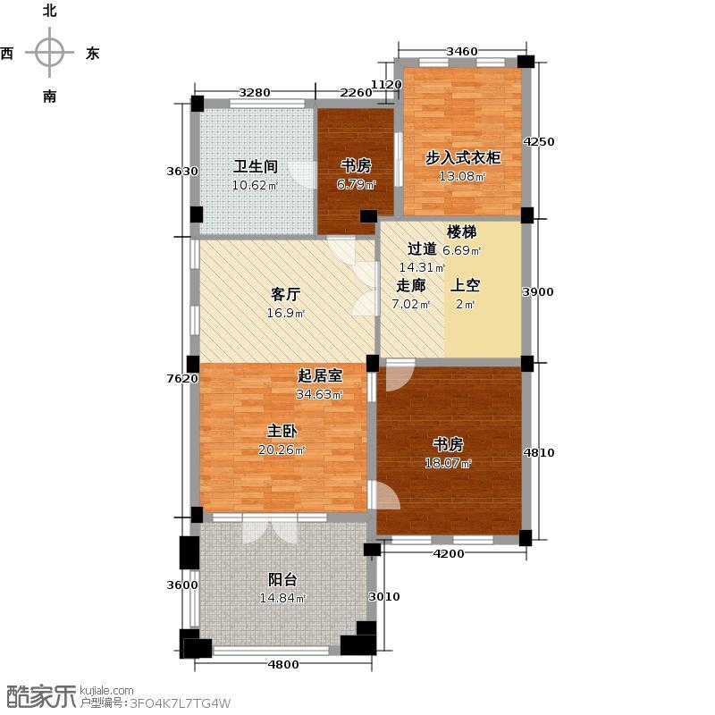 绿城云栖玫瑰园531.34㎡三层主人专区户型10室