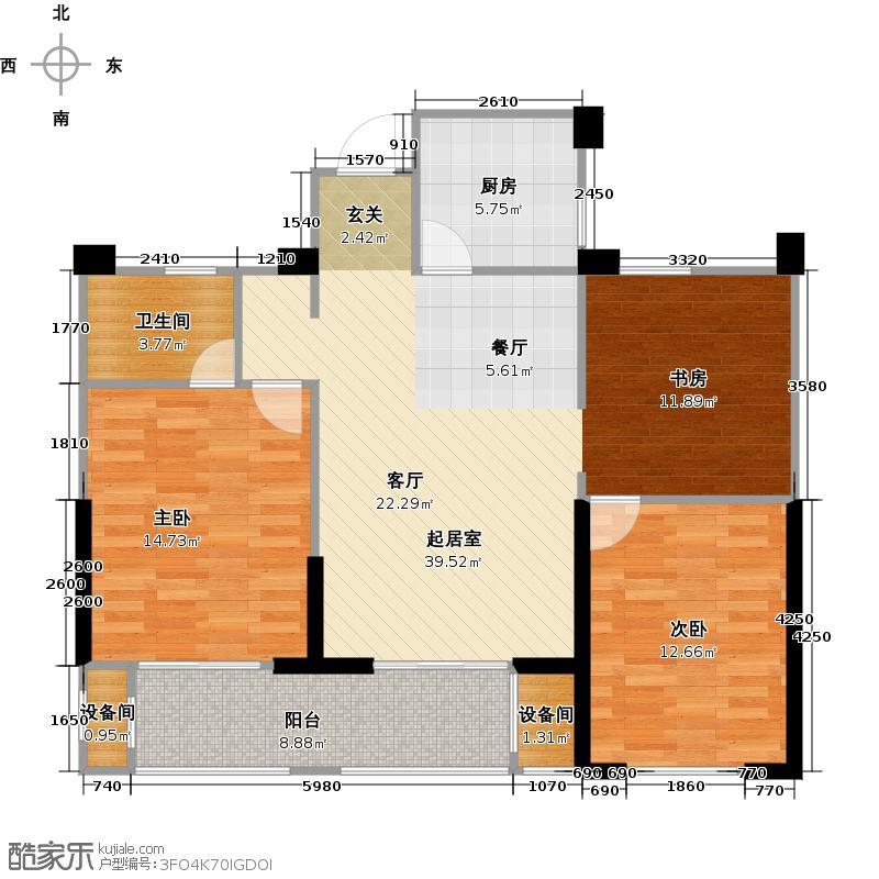 亿丰时代广场95.81㎡户型10室