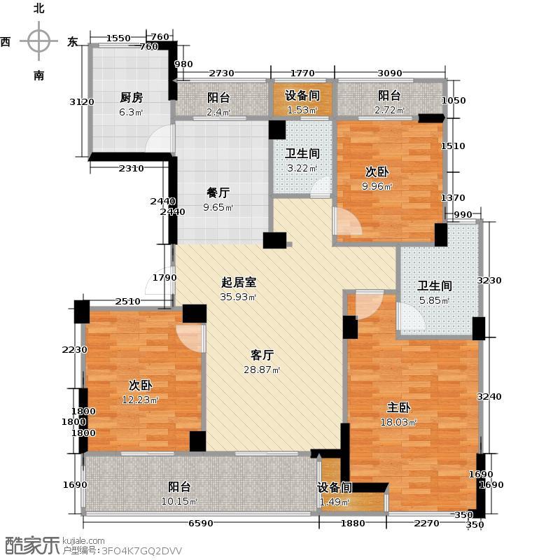 亿丰时代广场121.55㎡户型10室