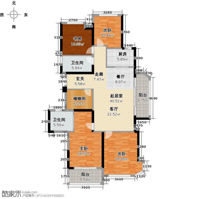 龙湖春江彼岸165.00㎡户型4室2厅2卫