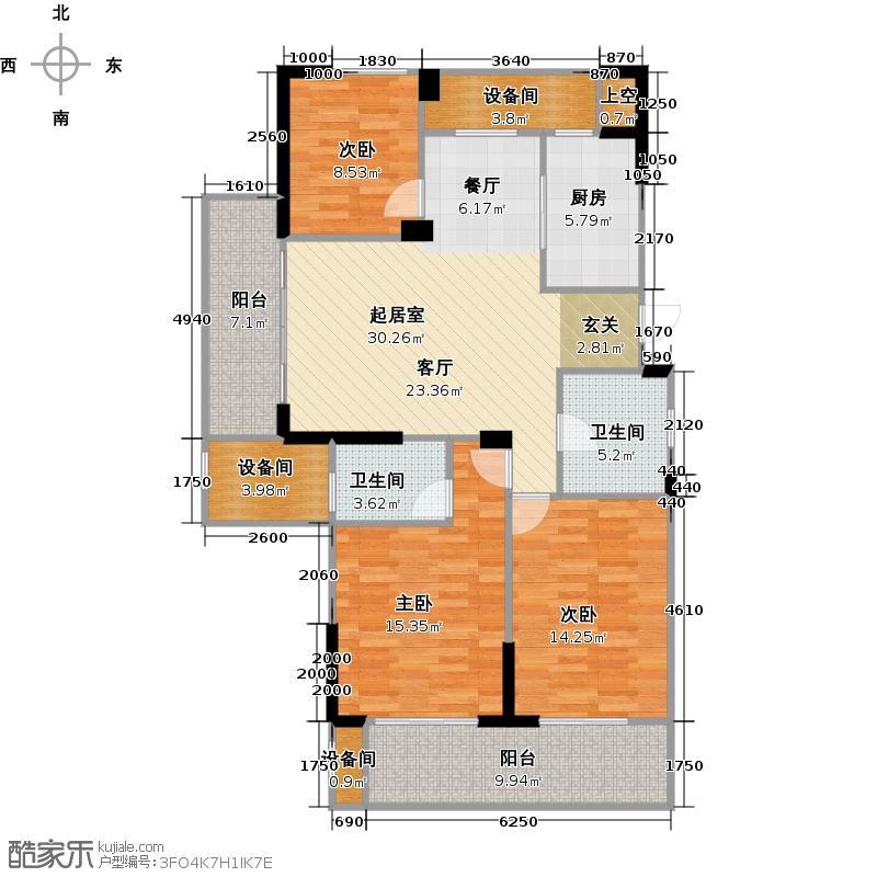 亿丰时代广场120.91㎡户型10室