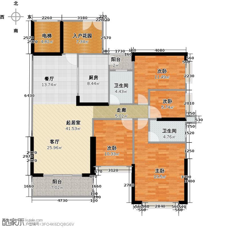 中恒海晖城137.94㎡二期32栋03单元户型4室2厅2卫