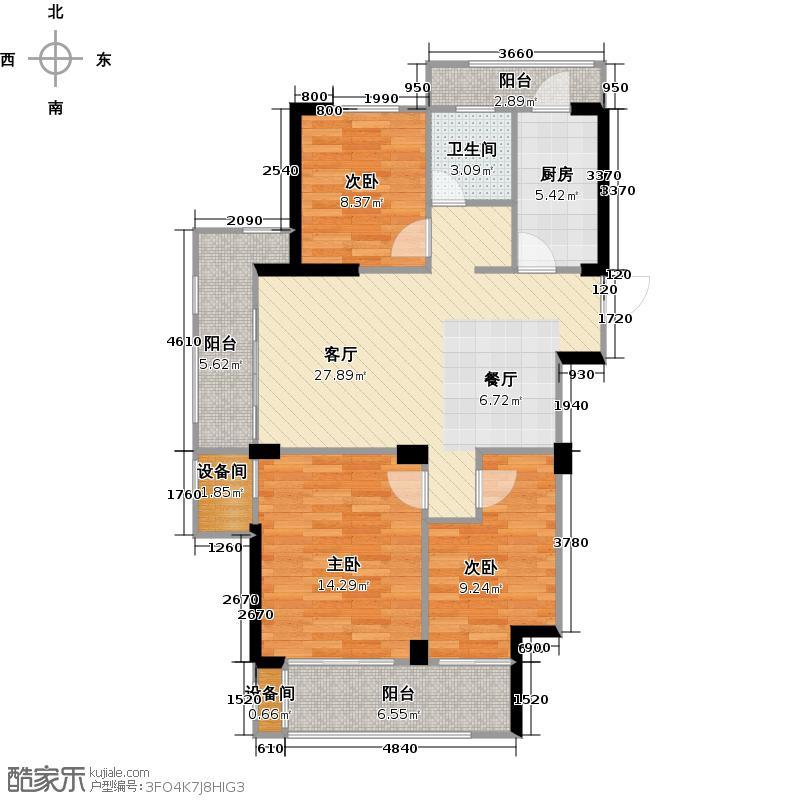 亿丰时代广场95.55㎡户型10室
