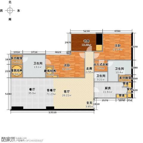 东方之门3室2厅3卫0厨220.00㎡户型图
