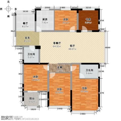 东润枫华5室1厅2卫1厨176.00㎡户型图