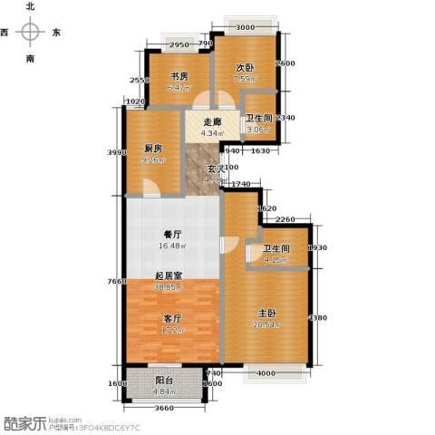 龙湖・长楹天街3室2厅2卫0厨140.00㎡户型图