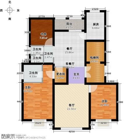 和成�园3室2厅2卫0厨135.00㎡户型图