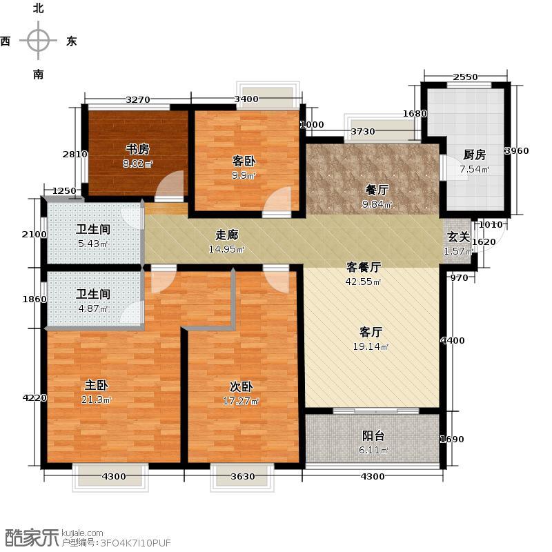 时代上城137.00㎡A4户型3室2厅2卫-副本