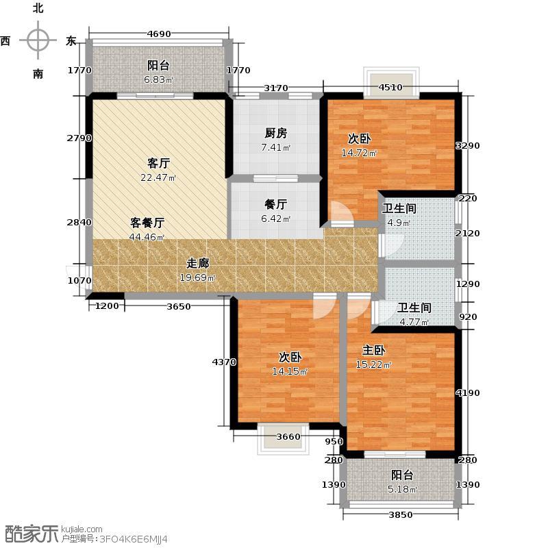 宝龙城市广场135.00㎡7#8#楼A户型10室