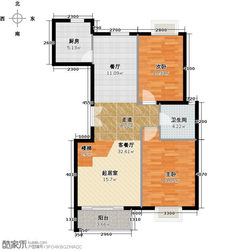 世纪星城・长城国际148.58㎡三期A2标准层户型10室